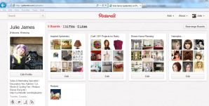 My Pinterest Dashboard