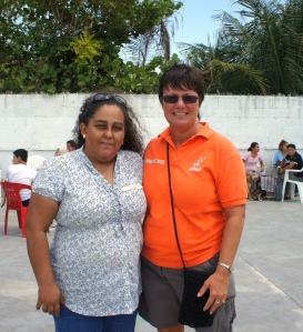 AFAD President Lidia Saleh and Canadian volunteer