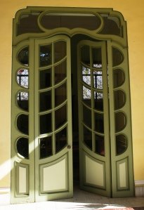 Art Nouveau doors at Casa Esperanza in Merida