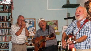 Dad and friends singing at Natasha and Lupe's Restaurant