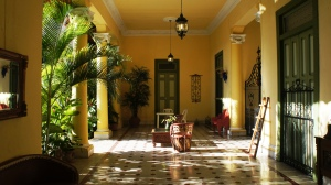 Lobby of Casa Esperanza B&B in Merida