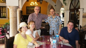 Our gang at lunch in Merida