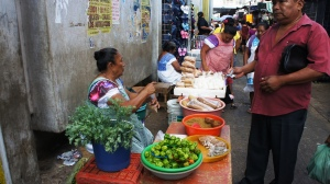 At the market in Merida